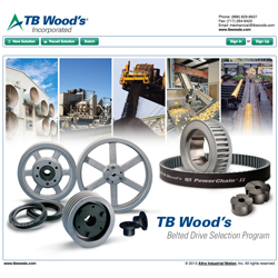 New TB Woods Belt Drive Selector Screen Shot