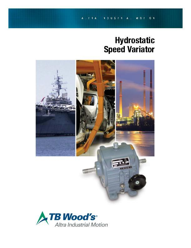 Hydrostatic Speed Variator