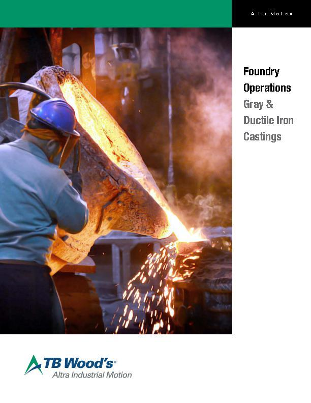 Foundry Operations Gray & Ductile Iron Castings