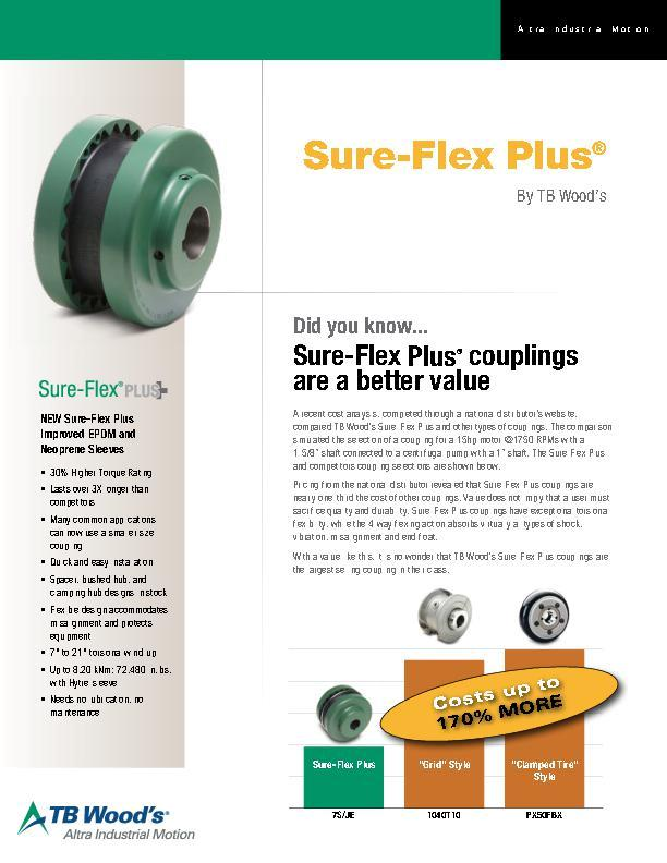 Sure-Flex Couplings Value Sheet