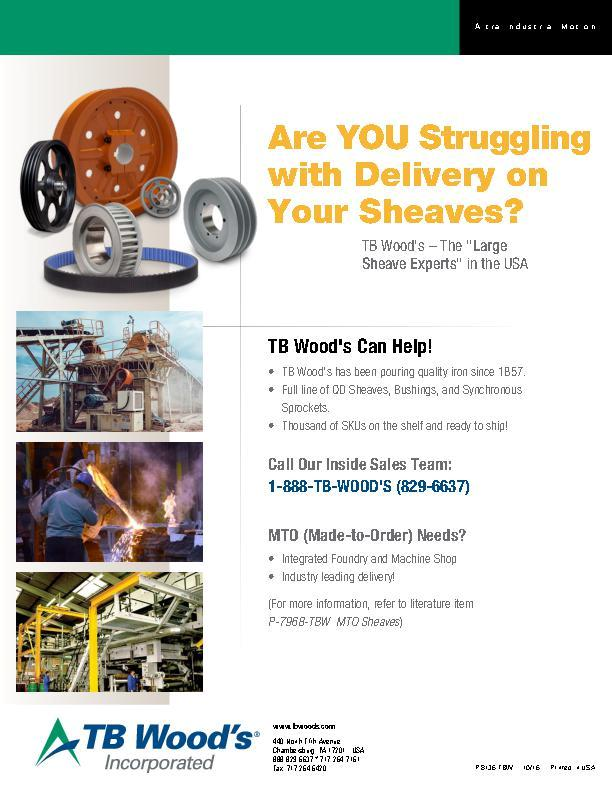 Are YOU Struggling with Delivery on Your Sheaves?
