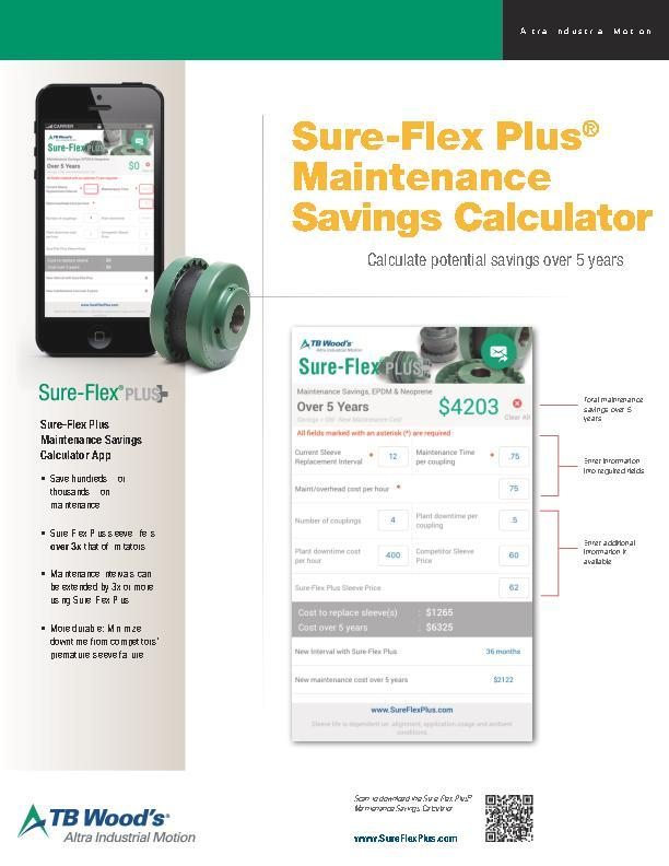 Sure-Flex Plus® Maintenance Savings Calculator