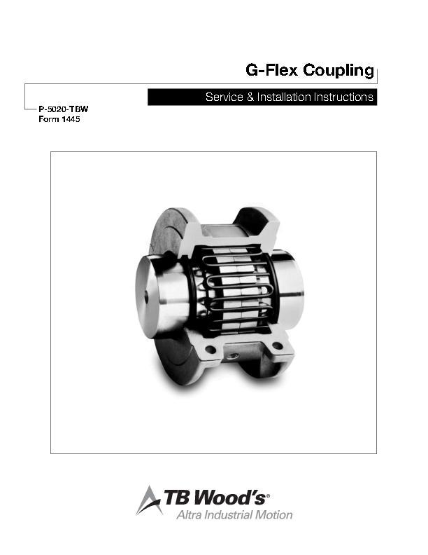 G-Flex Coupling Service & Installation Instructions Form 1445