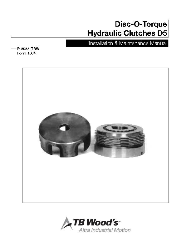 Disc-O-Torque Hydraulic Clutches D5 Install & Maintenance