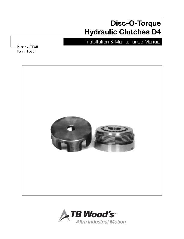 Disc-O-Torque Hydraulic Clutches D4 Install & Maintenance