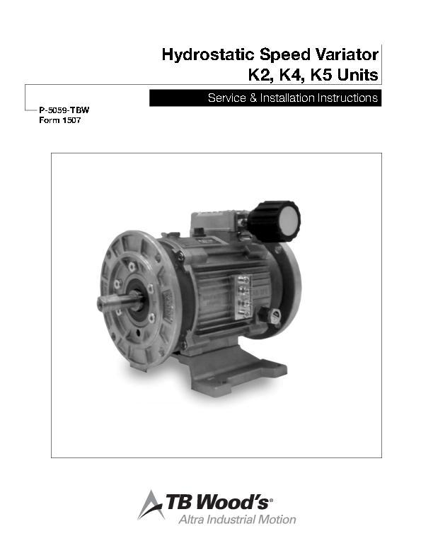 Hydrostatic Speed Variator K2, K4, K5 Units Service & Install