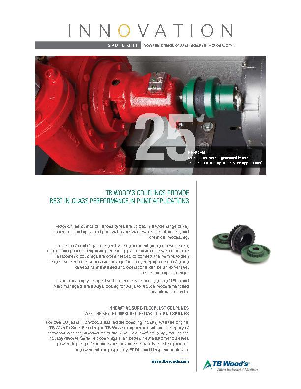 TB Wood's Couplings Provide Best-in-Class Performance In Pump Applications