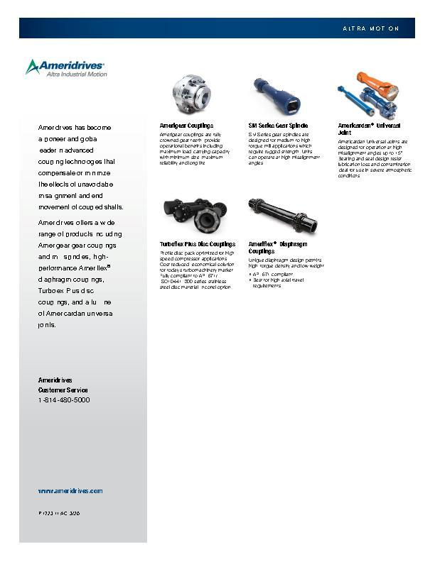 Ameridrives Product Line Card