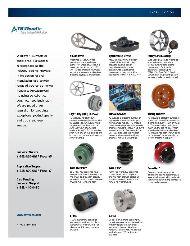 Form-Flex® Flexible Disc Couplings | TB Wood's