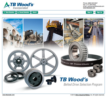 TB Wood's Belted Drive Selection Program