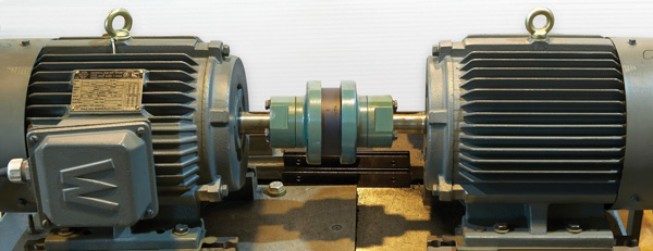 Wear test stand with misaligned motors